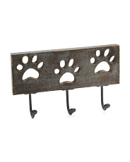 3 Hooks Paw Cut Out Wall Decor