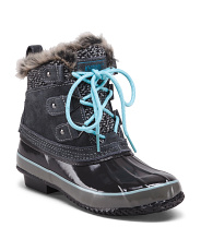 Suede Lace Up Winter Boots