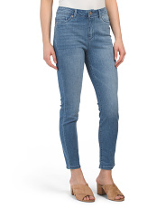 High Waist  Muffin Cover Ankle Jeans