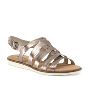 Wide Comfort Leather Sandals