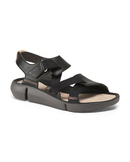 Leather Sport Comfort Wedge Sandals