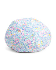 Kids Paris Print Bean Bag