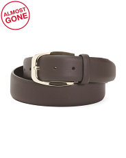 Made In Italy Casual Leather Belt