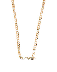 Made In Italy 14k Gold Love Curb Chain Necklace
