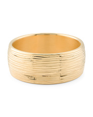 Made In Italy 14k Gold Brush Texture Bangle