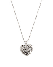 Made In Italy Sterling Silver Hidden Heart Necklace