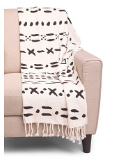 Mudcloth Cotton Throw