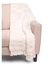 Knit Textured Throw