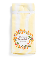 Set Of 3 Grateful Thankful Blessed Kitchen Towels