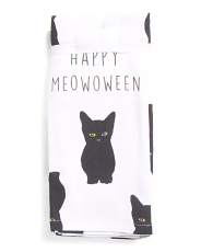Set Of 3 Cat Vampire Kitchen Towels