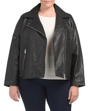 Plus Lux Leather Moto Jacket