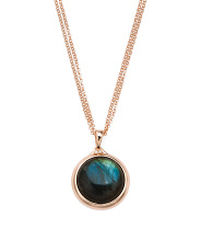 Made In Italy Multirow Labradorite Necklace