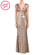 Made In Usa Lina Sequin Trumpet Gown