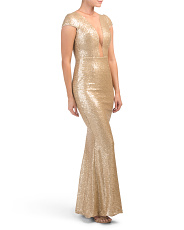 Made In Usa Michelle Sequin Gown