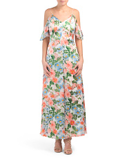 Alves Cold Shoulder Maxi Dress