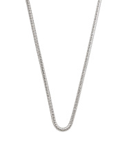 Made In Italy Sterling Silver Faceted Snake Chain Necklace
