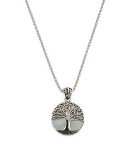 Made In Bali Sterling Silver Mop Tree Of Life Necklace