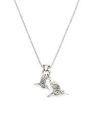 Made In Bali Sterling Silver Hummingbirds Necklace