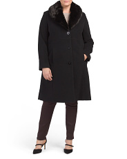 Plus Wool Blend Coat
