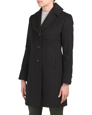 Petite Wool Blend Notch Collar Coat