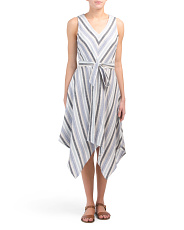 Linen Blend Belmar Stripe Dress