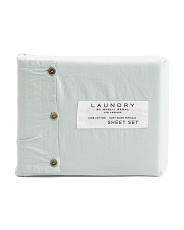 Washed Cotton Percale Sheet Set