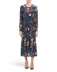 Made In Italy Status Floral Print Maxi Dress