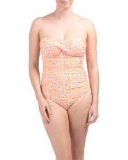 Twist Bandeau One-piece Swimsuit