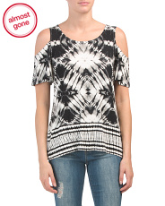 Cold Shoulder Patterned Top