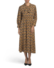 Made In Italy Geo Print Midi Dress