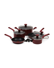 14pc Excite Nonstick Thermo Spot Cookware Set