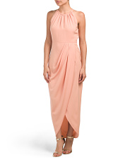 Australian Designed Halter Neck Ruched Dress