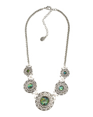 Graduated Abalone Statement Necklace