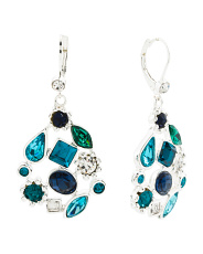 Shade Of Blue Cluster Earrings