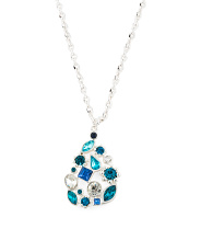 Shade Of Blue Cluster Necklace