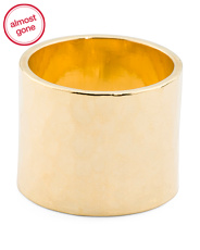 Made In Usa 14k Gold Plated Cigar Band Ring