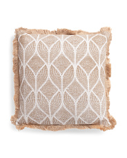 20x20 Jute Trim Printed Pillow