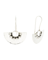 Made In Mexico Sterling Silver Shield Earrings
