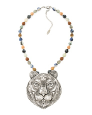 Genuine Stone Tiger Necklace