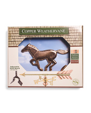 Polished Copper Horse Weathervane