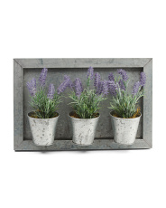 Lavender In Galvanized Wall Frame