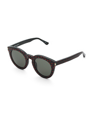 Made In Italy Round Designer Sunglasses