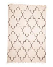 5x8 Flatweave Textured Wool Area Rug