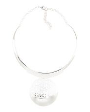 Sterling Silver Disk Collar Necklace