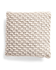 20x20 Loop Textured Pillow With Border