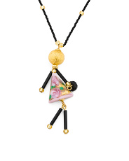 Made In Italy Murano Glass Doll Necklace