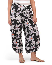 Plus Tropical Printed Cover Up Pants