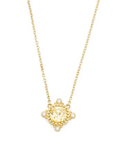 14k Gold Canary Crystal Necklace