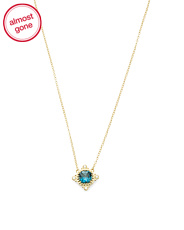 14k Gold London Blue Topaz Necklace