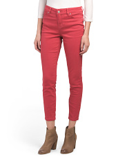 High Waist Colored Ankle Jeans